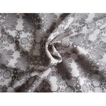 Composite Yarn Imitation Silk Satin Fabric with Printing (XSC002))