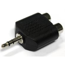 Áudio de 3,5 mm para 2 adaptadores RCA