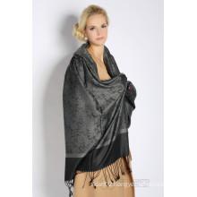 Silk & Acrylic Jacquard Scarf (12-BR010220-18.1)