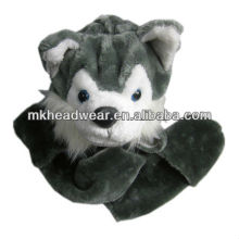 popular plush wolf head hats