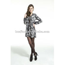 Elegant ladies v neck sweater dress /antipilling cashmere