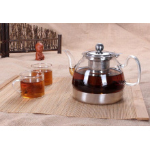 Стеклянный корпус Нержавеющий нижний чайный чайник Кофейник