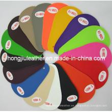 Suministro de cuero artificial de PVC de colores (128 #)