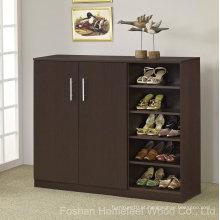 Prateleiras de armazenamento de gabinete de sapato de madeira móveis (HF-EY08182)
