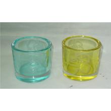Decorative Pillar Glass Candle Holder/Candlestick Holder
