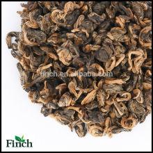Venta caliente China Yunnan estándar de la UE té negro espiral en forma de caracol de oro té negro o Golden Bi Luo Chun té rojo