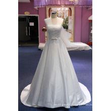 Satin Lace Bow Ball Bridal Wedding Dress