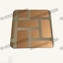 430 acero inoxidable Ket005 grabado hoja para materiales de decoración