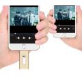 Metal OTG USB Pendrive da memória Flash de 16GB OTG para o iPhone