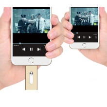 16GB OTG Memoria Flash Metal OTG USB Pendrive para iPhone