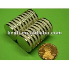 22mm dia x 1.8mm d'épaisseur N35 Aimant de néodyme - 6.15kg Pull (Nord)