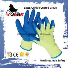 10g Baumwoll Palm Latex Crinkle Finish Beschichtete Sicherheit Arbeitshandschuh