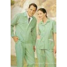 """Vat Dye TC Vêtements de travail uniformes Tissu 65/35 14x14 80x52 240-245gsm 57/58 """"3 / 1Twill"""