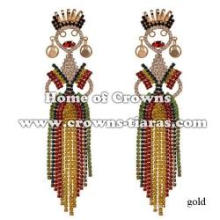 Colored Rhinestone Fashion Lady Earrings Party Jewelry