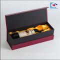 Caja de regalo al por mayor de la botella de vino de la cartulina de la caja de empaquetado del vino