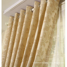 golden color double layer curtains