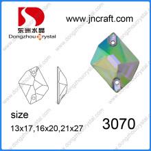 Кристалл плоской задней стеклянный камень для пошива одежды