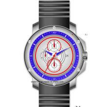 Многофункциональный 316 нержавеющей стали большой размер силиконовые спортивные мужские часы