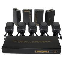 até 60m 1X4 HDMI Splitter Extender