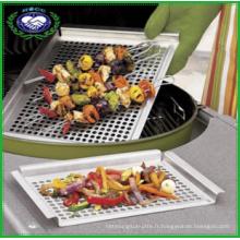 Panneau barbecue barbecue en acier inoxydable