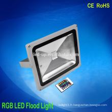 20w imperméable à l'eau multi-colorant en plein air RGB LED Flood Light