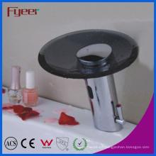 Fyeer Black Spout Waterfall Automatic Glass Sensor Faucet (QH0109B)