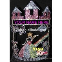 Beste verkaufende Schönheitswettbewerb-heiße Verkaufsschloss-Schmetterlingsfee-Königin-Tiara-Krone