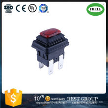 Waterproof Push Button Switch, Square Push Button Switch, Waterproof Lamp Self-Locking 6 A250V Push Button Switch