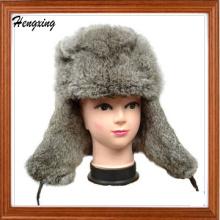Rabbit Fur Earflap Hats
