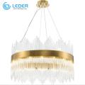 Hermosos candelabros de cristal con cuentas LEDER