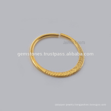 Handmade Gold Plated Septum Indian Nose Ring, Wholesale 925 Sterling Silver Nose Ring Septum Piercing Jewelry
