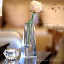 Ofício de vaso de vidro de cristal bonito para decoração