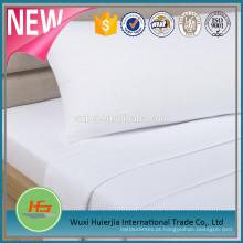 Folha de cama lisa branca T180 descorada para o uso do hotel e do hospital