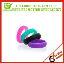 Promotional high quality custom silicone wedding rings