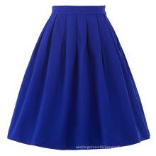 Belle Poque Women Midi Skirt 2016 Blue Vintage Skirts Pinup Skirt BP000154-3