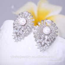 Neueste Modell große Kristall Lotus Charming Ohrring Nahen Osten Hochzeitsgeschenke