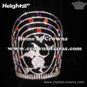 Crystal Halloween Witch Pageant Crowns