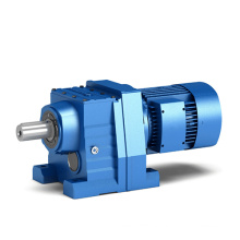 4kw 371rpm ratio 3.83 380V 50HZ manufacturer R series helical gear reducer with electric motor