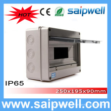 Saip Haute Qualité IP65 12 voies boîte MCCB imperméable 250 * 195 * 90mm
