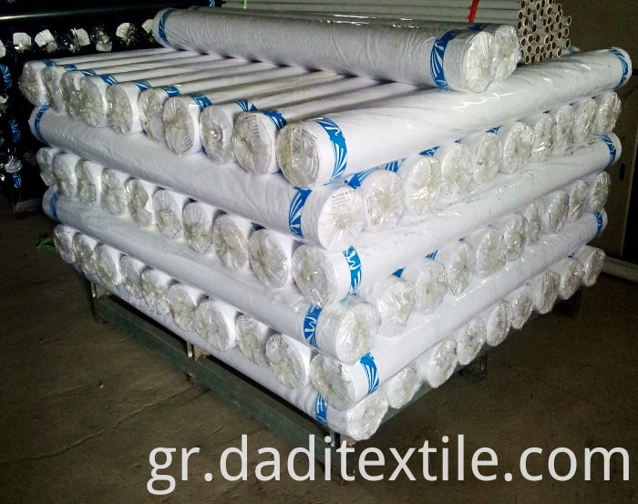 Bleached white weaving fabric