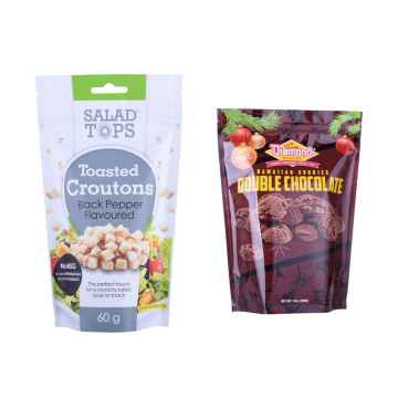 Custom Stand Up Foil Aluminium Pouch Voor Food Custom Printed Ba