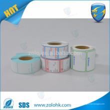 ZoLo de boa qualidade impressão em tamanho diferente impressão em branco e rolo de adesivo térmico adesivo em branco