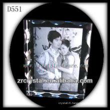 K9 Laser Etched Image Inside Crystal Photo Frame