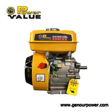 Бензиновый двигатель Taizhou Gx200 6.5HP, Ohv 4-тактный двигатель со сцеплением для продажи