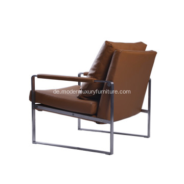 Moderner Leder Zara Lounge Chair