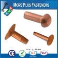 Made in Taiwan Round Head Rivet POP Rivet River Screw Copper Rivets