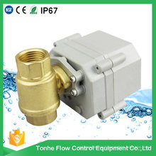 Dn15 NSF61 Brass Electric Ball Valve Price Cr202 Two Wires