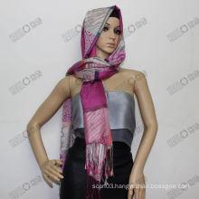 Elegant Jacquard woven shawl