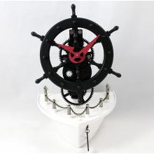 Metal Ship Rudder Gear - Reloj de escritorio