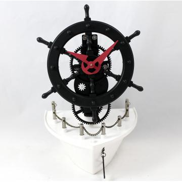 Metallschiff Ruder Gear Desk Clock